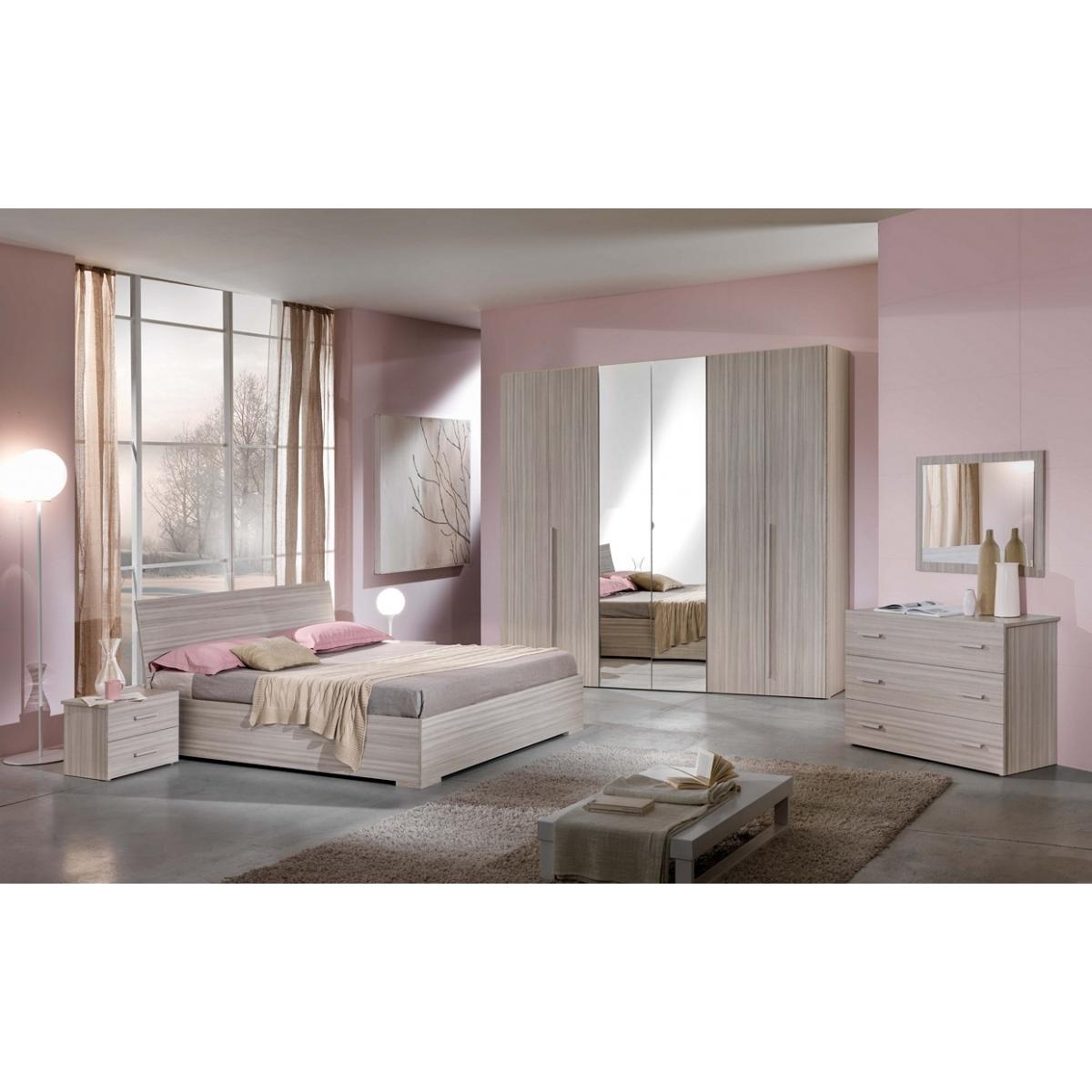 811 camera da letto larice visage con letto contenitore - Contenitori Camera Da Letto