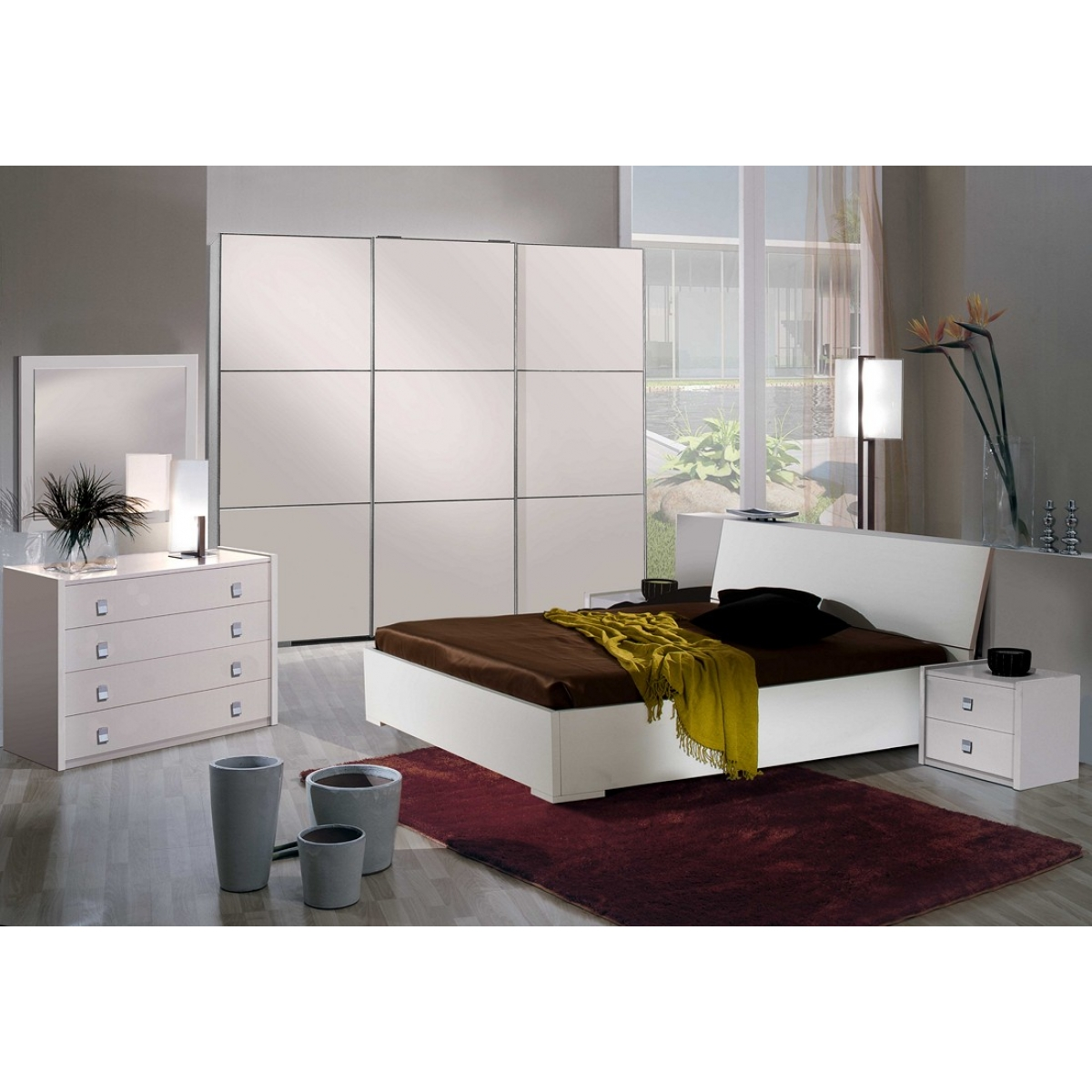 Camera Da Letto Larice Bianco : Camera da letto larice bianco ante scorrevoli