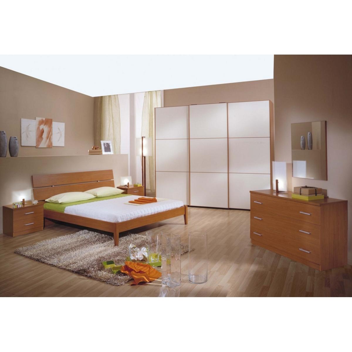 825 camera da letto ciliegio e panna anta scorrevole - Camera da letto in ciliegio ...