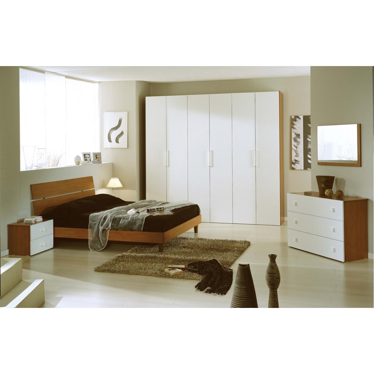 837 camera da letto completa ciliegio crema moderna - Camera da letto moderna completa ...