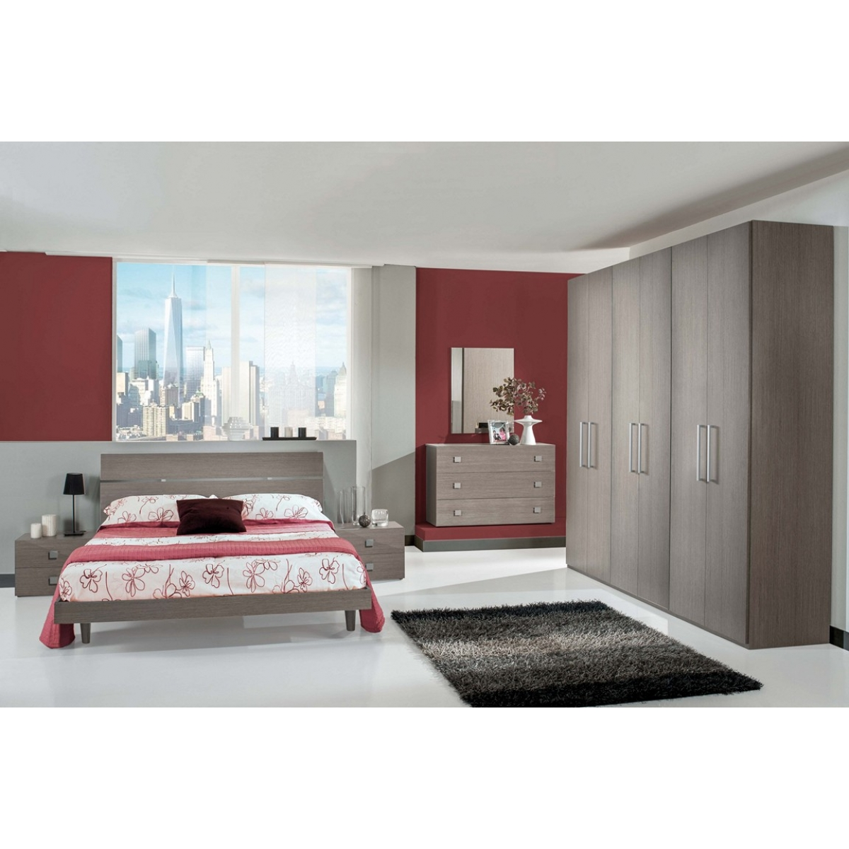 843 camera da letto completa moderna - Camera da letto moderna completa ...