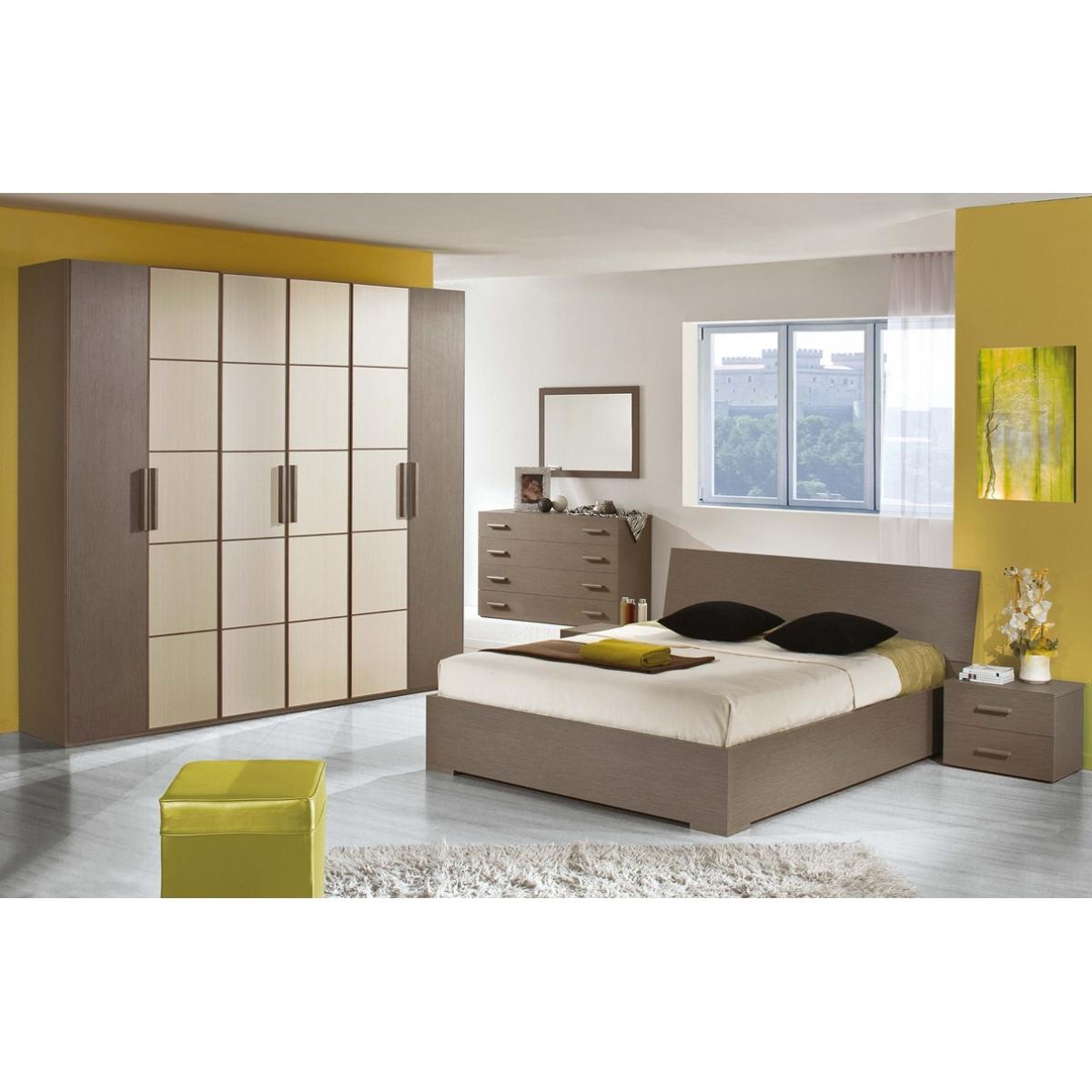 860 camera da letto larice grigio e natura letto contenitore - Letto Contenitore Grigio