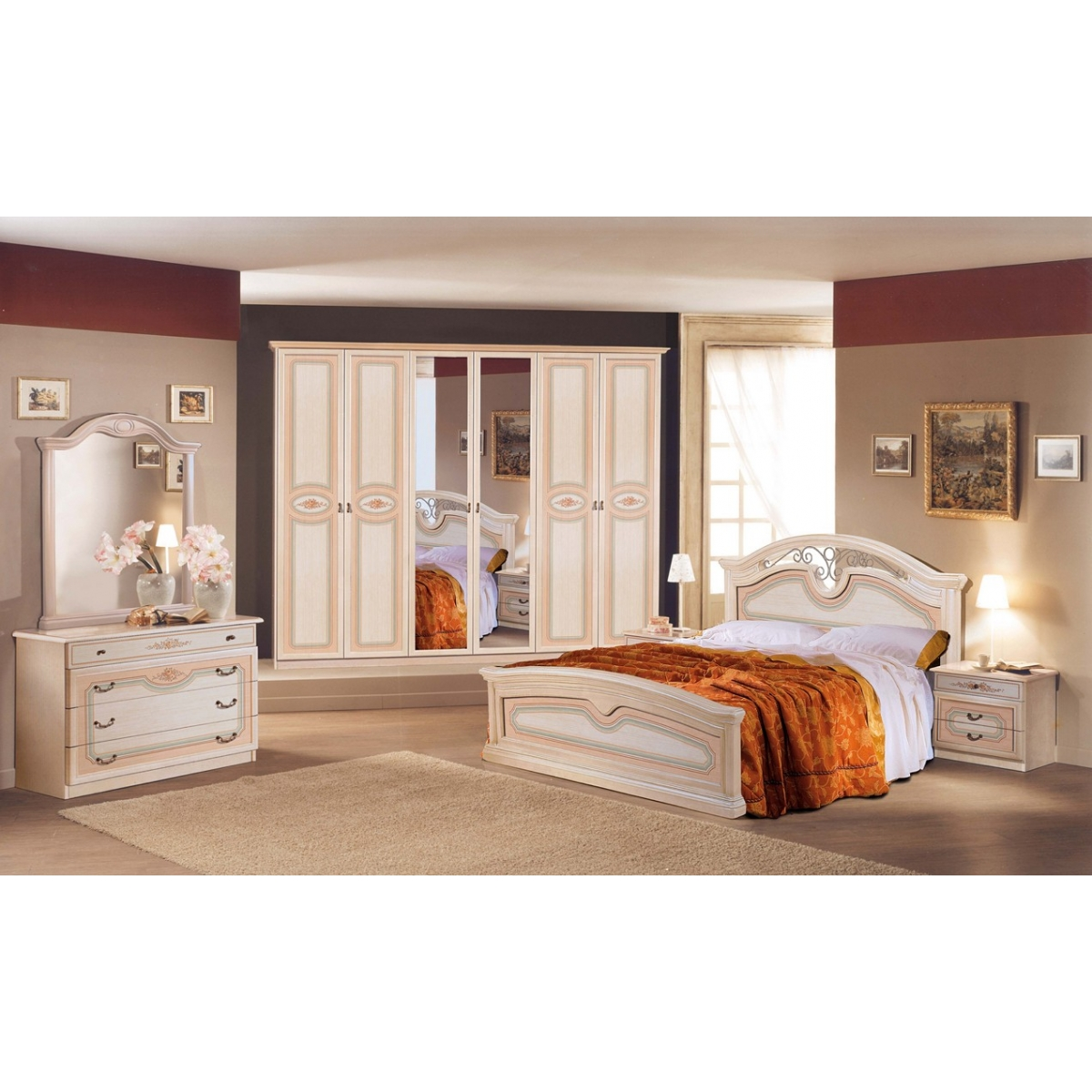 867 CAMERA DA LETTO PATINATA BEIGE
