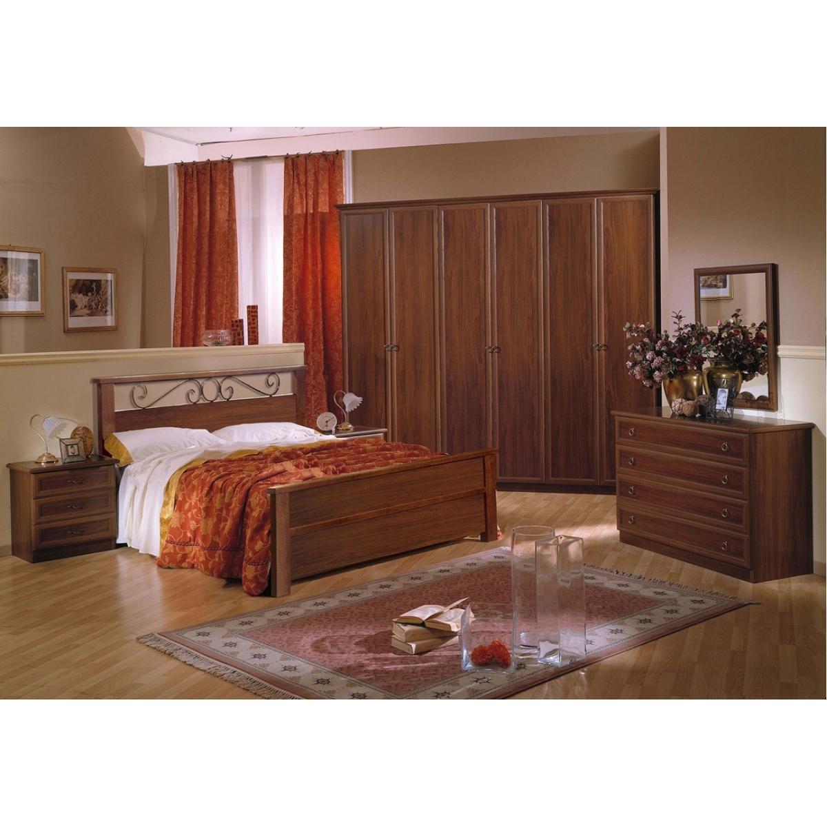 868 camera da letto classica noce - Camera da letto classica ...