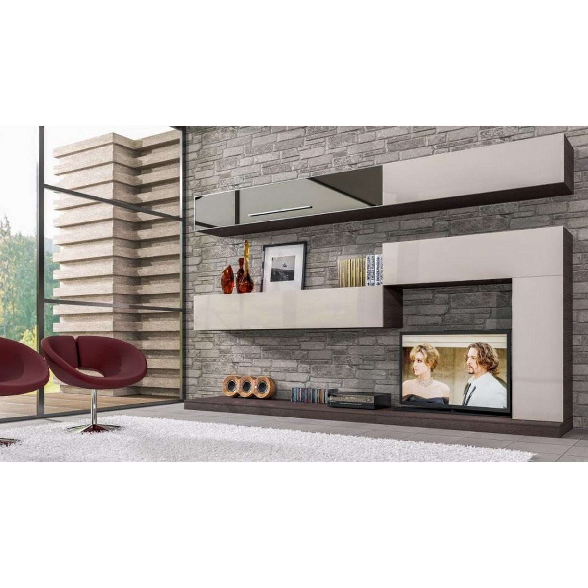 104 soggiorno moderno bianco lucido visone for Soggiorno moderno bianco