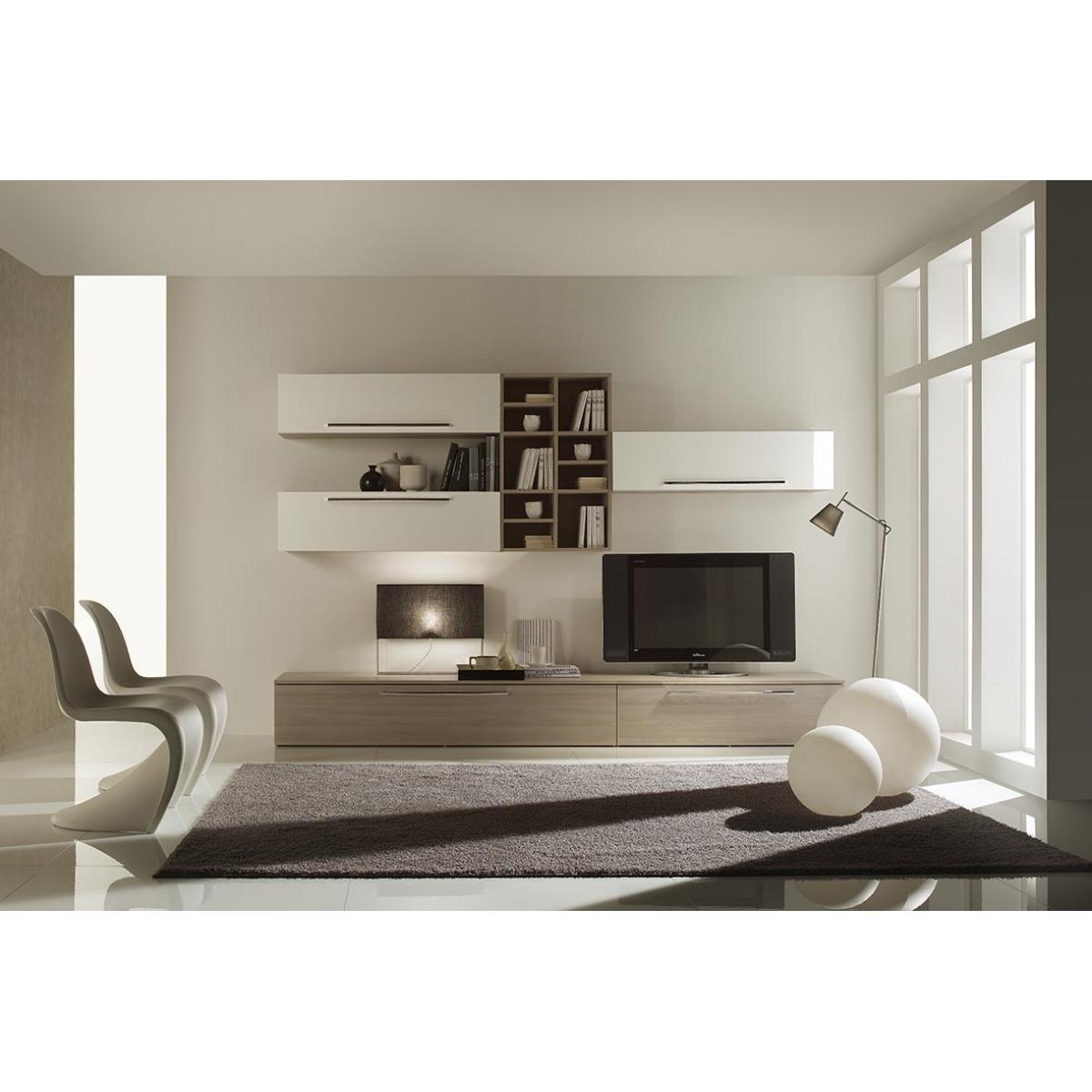 005 parete soggiorno moderna laccata for Parete soggiorno moderna