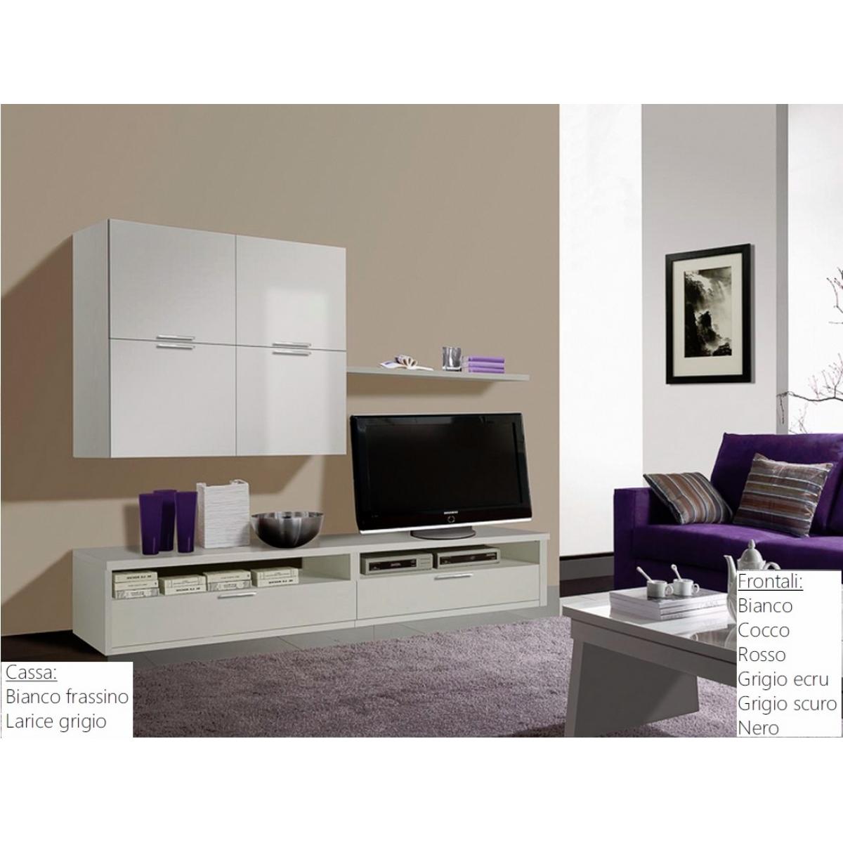 009 soggiorno bianco for Soggiorno moderno bianco