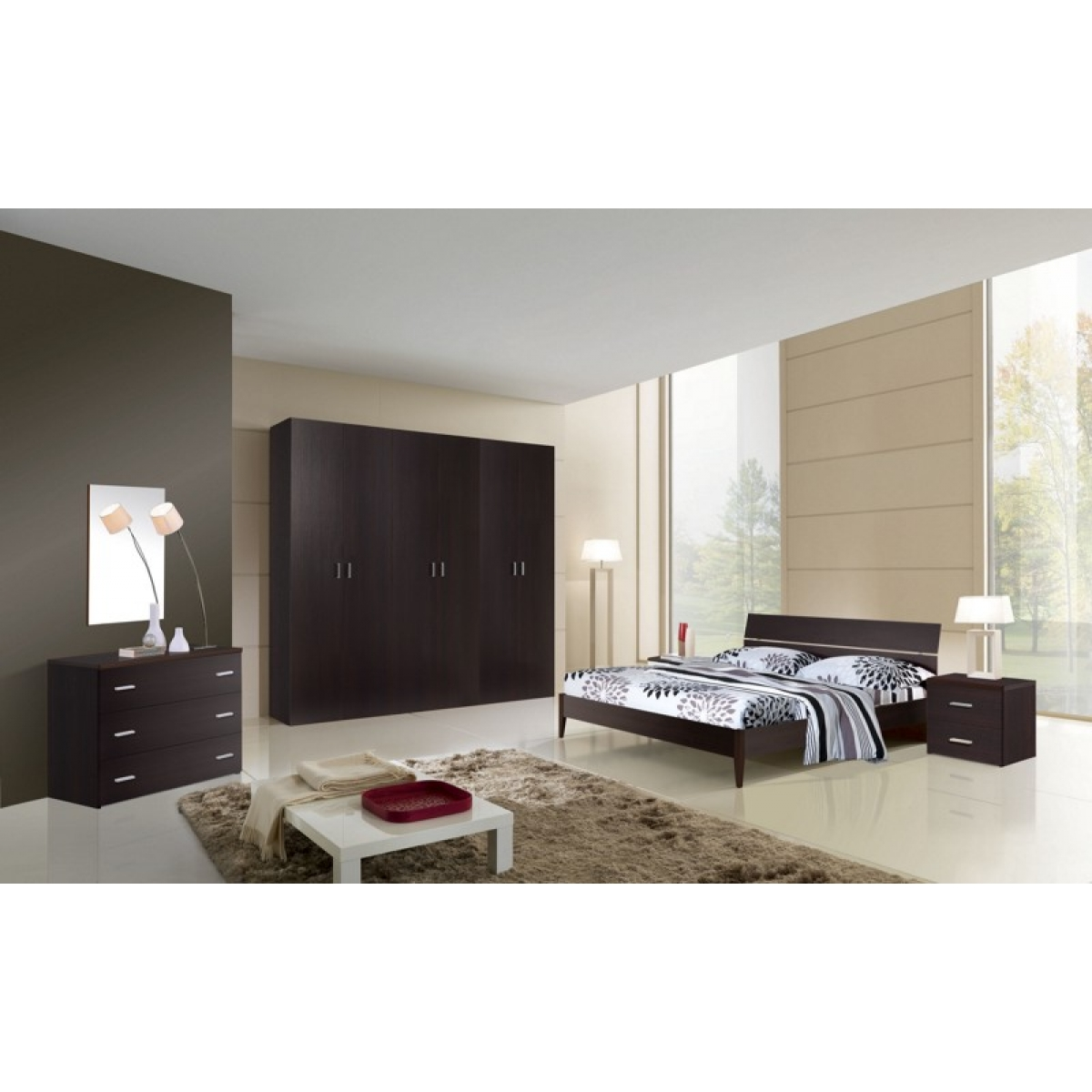 216 camera da letto completa moderna - Camera da letto a ponte moderna ...