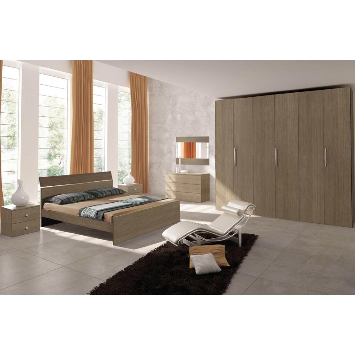387 camera da letto completa moderna grigio larice - Camera da letto moderna completa ...