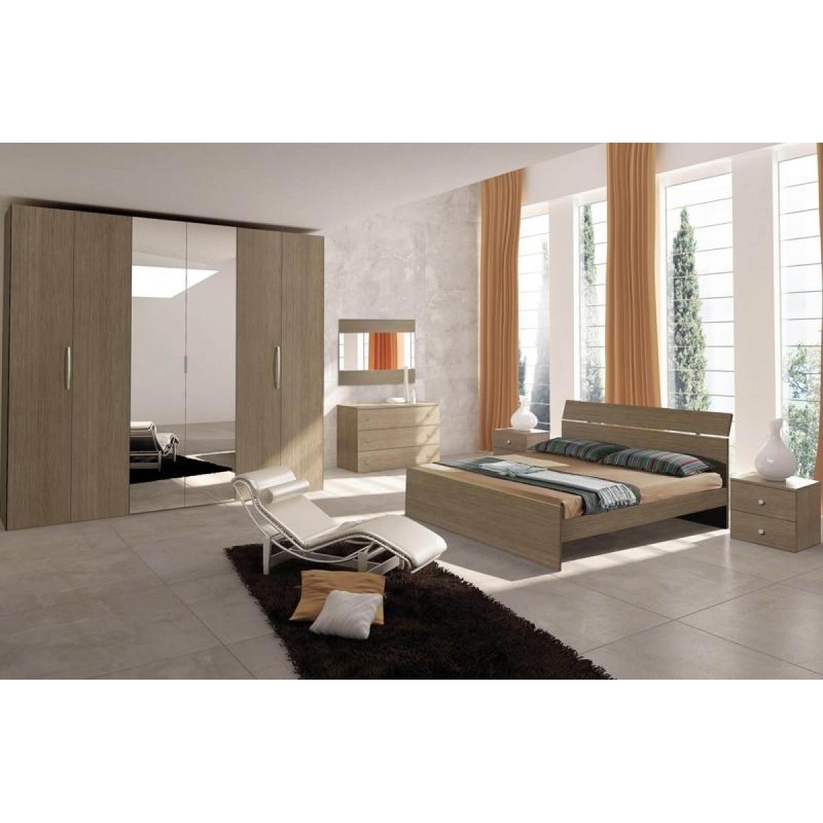 388 camera da letto completa moderna grigia con specchi - Lumi camera da letto moderna ...