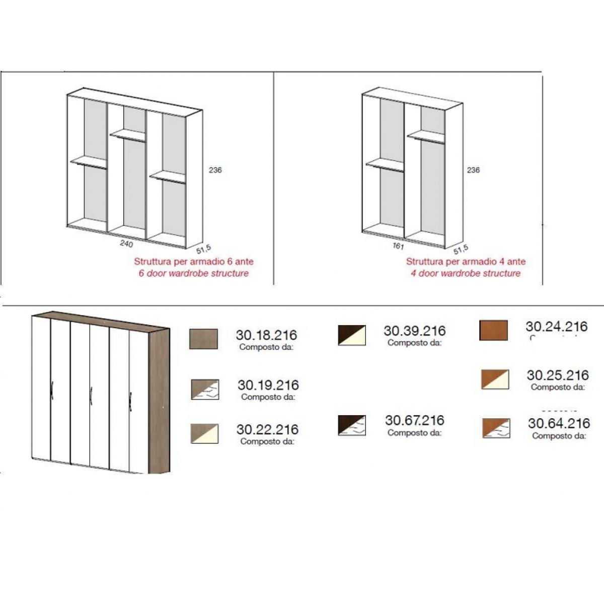 388 camera da letto completa moderna grigia con specchi - Camera da letto completa moderna ...