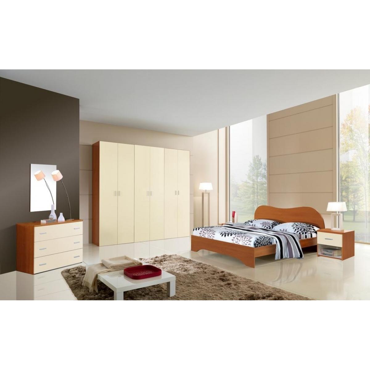 204 promozione camera da letto ciliegio crema - Camera da letto single ...